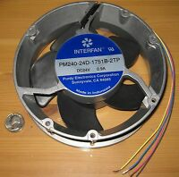 Interfan 172mm X 51mm - 250 Cfm Round Fan - 24 V Dc - 3350 Rpm - Pm240-24d