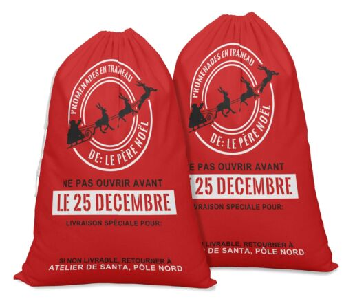 Details about  /Pack Of 2 Drawstring Special Delivery Re-Usable Christmas Sack-XM-PRCHSF14B
