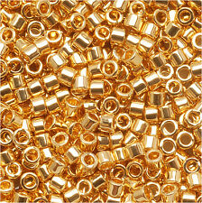 Miyuki Delica Seed Beads 11/0 24K Gold Plated Db031