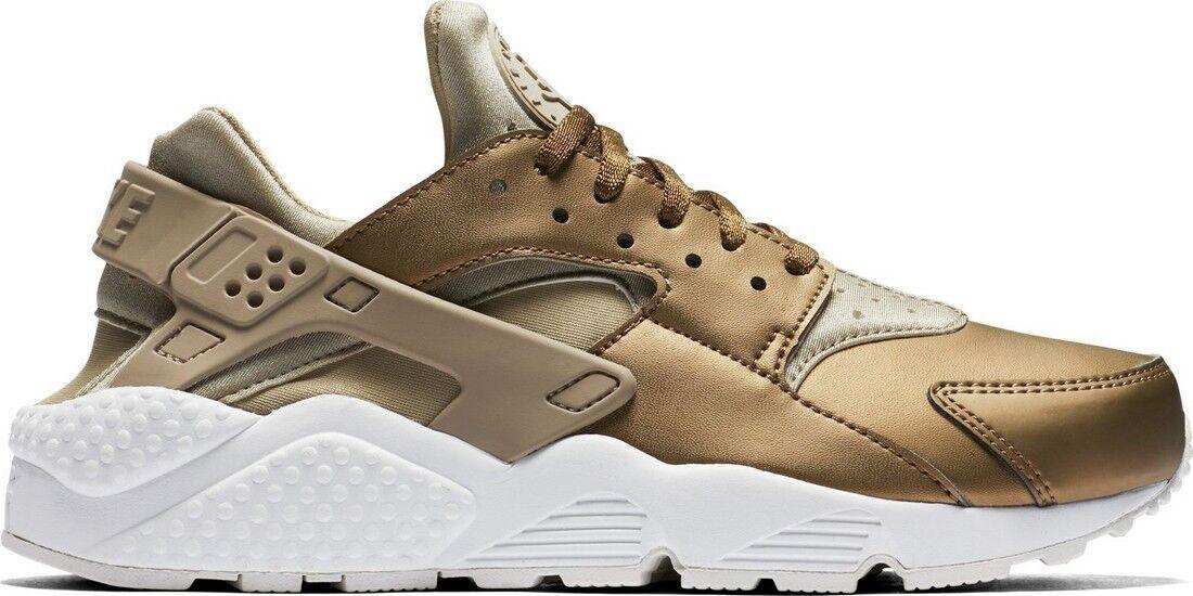 Nike Women's AIR HUARACHE RUN PREMIUM TXT KHAKI Shoes AA0523-201 b