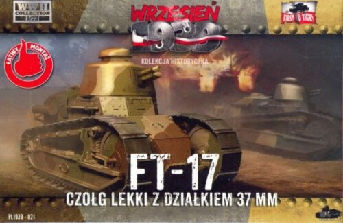 1//72 First to fight PL1939-021 FT-17 Round turret with 37mm gun
