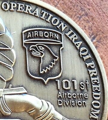 The USA Operation Iraqi Freedom Medallion Medal Coin 101st Airborne Division New
