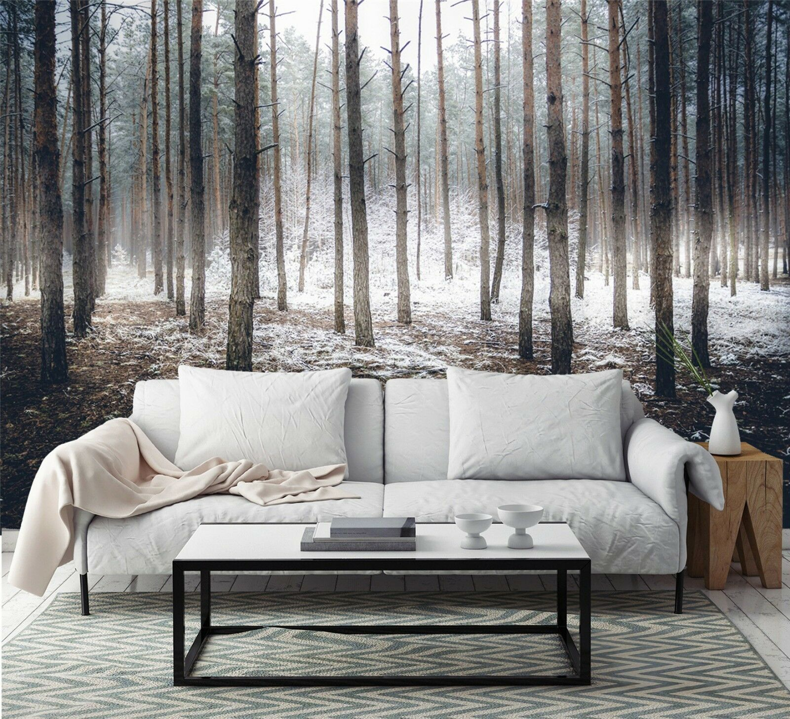 3D snow boad forest Wall Paper wall Print Decal Wall Deco Indoor wall Mural