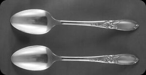 Community-White-Orchid-6-1-8-034-Tea-Spoons-Teaspoons-TWO-4-sets-of-two-avail