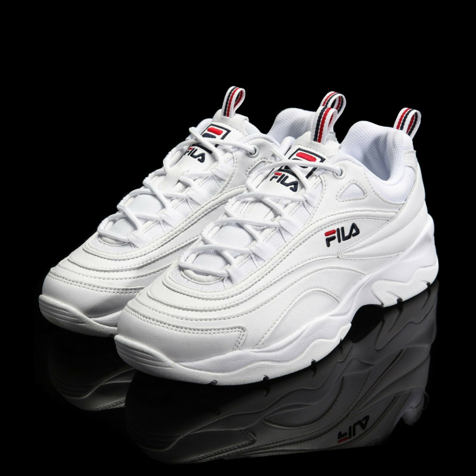 FILA Ray White Authentic Shoes Running 2018 Unisex Comfortable Casual wild
