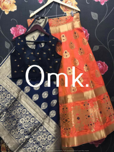 Banarasi Silk Lehenga Choli Party Wear Ready made Lehenga Choli Silk Duptta G3