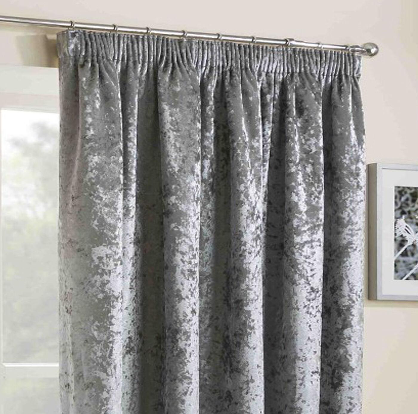 crushed curtains velvet 3 pencil pleated headed tape. Black Bedroom Furniture Sets. Home Design Ideas
