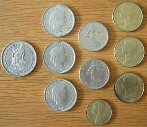 Lot-6-REPUBLIQUE-FRANCAISE-France-Coins-1-2-Franc-Centimes-4-Helvetia-Helvetica