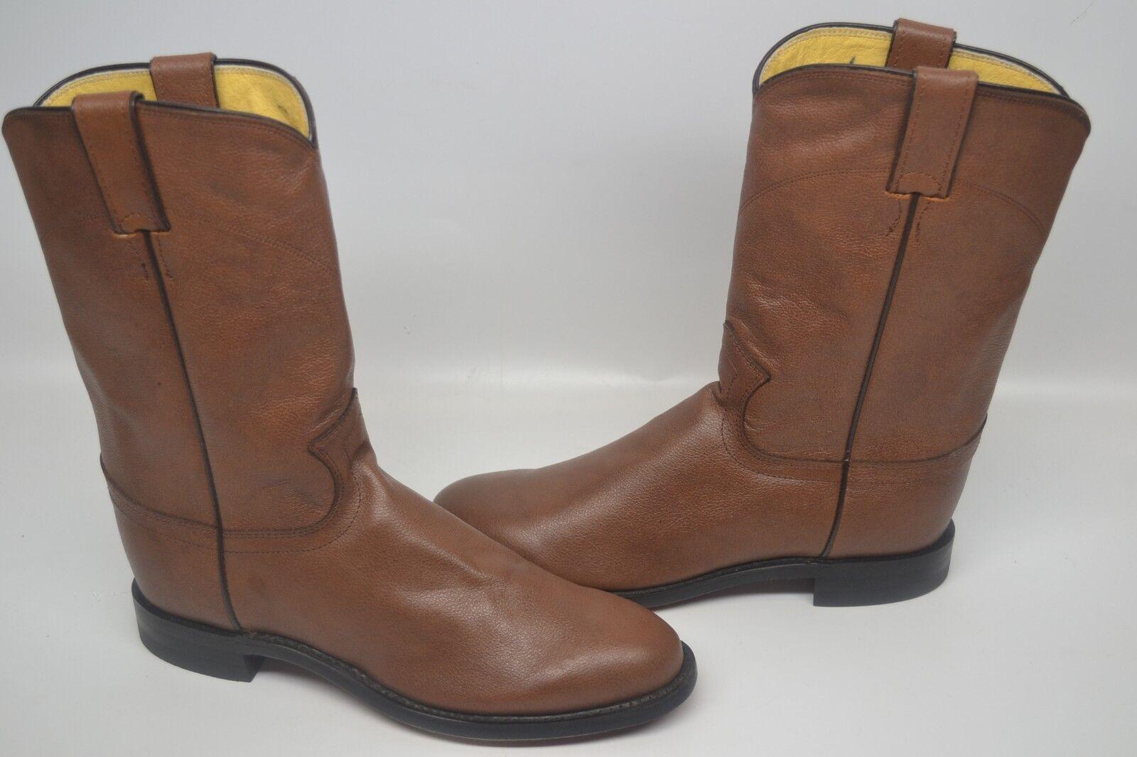 Justin 3714  Herren 7 D Braun Leder    JACKSON Roper Cowboy Riding Western Stiefel e0efa3