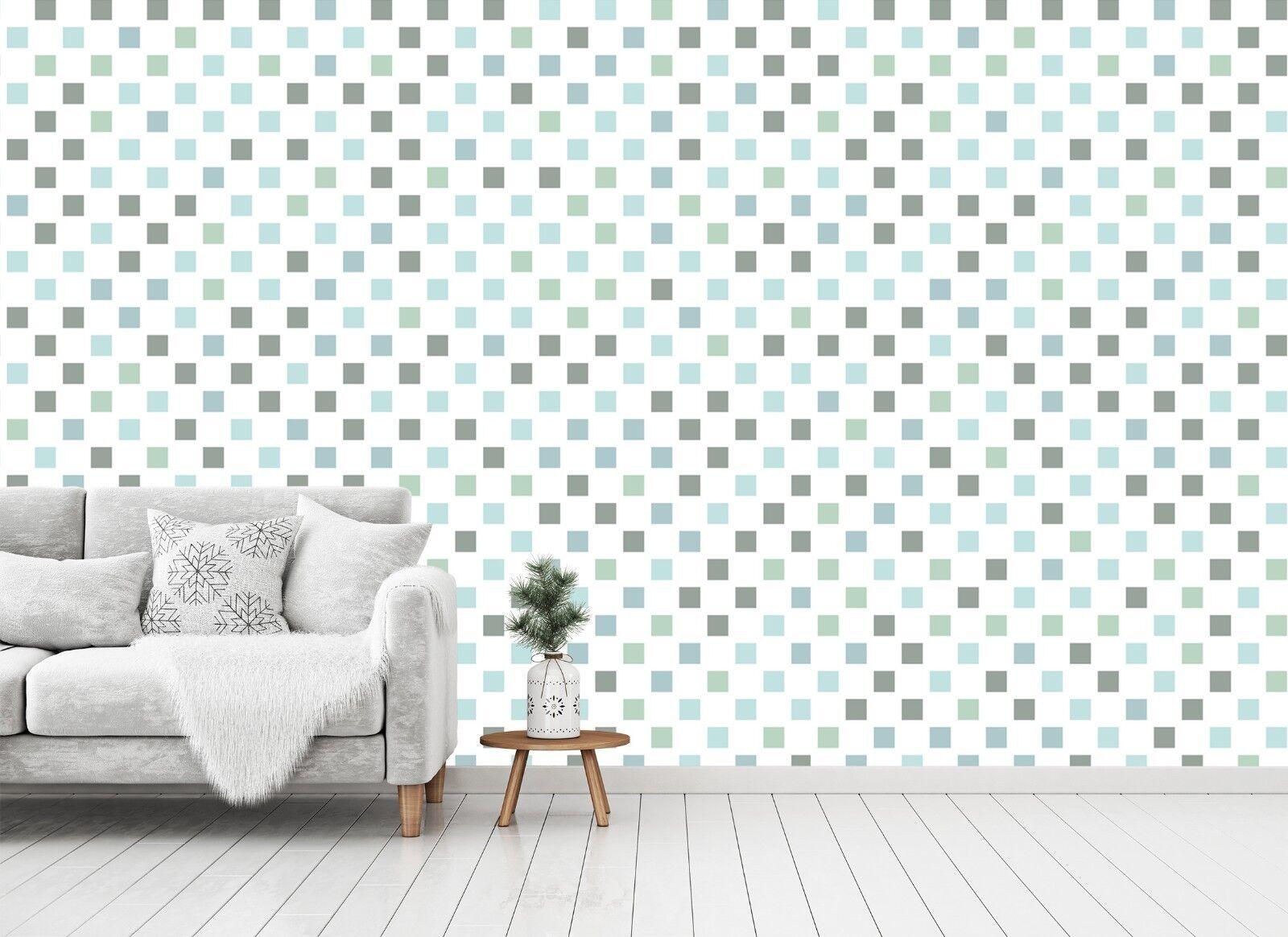 3D Grün Square Lattice 55 Wall Paper Wall Print Decal Wall Deco Indoor Murals