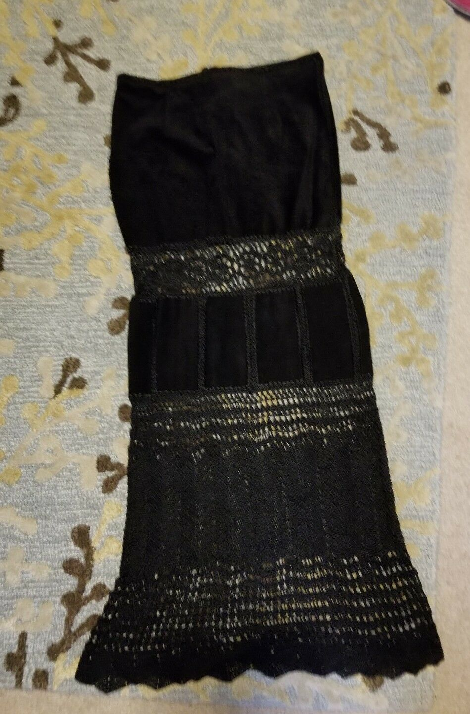 Single Dress Sz S Boutique Brand Gorgeous & Strapless Suede Leather