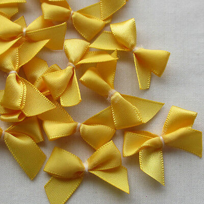 E230  Mini Satin Ribbon Flowers Bows Gift Craft Wedding Decoration Upick 60pcs