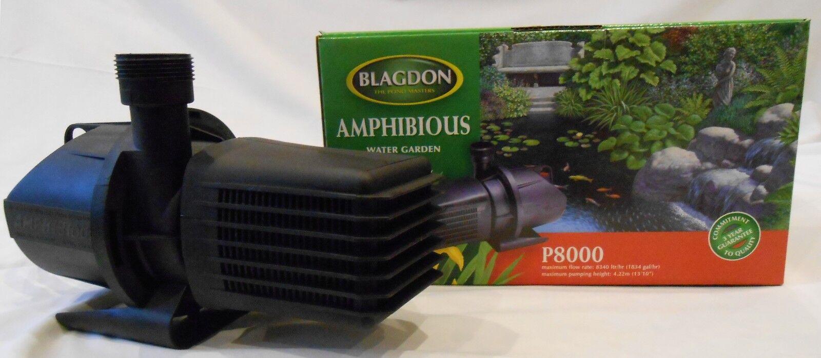 Sale Price Blagdon Amphibious Pond Pump P8000 8340 Lt/Hr for Koi Pond 🐟🐟🐟
