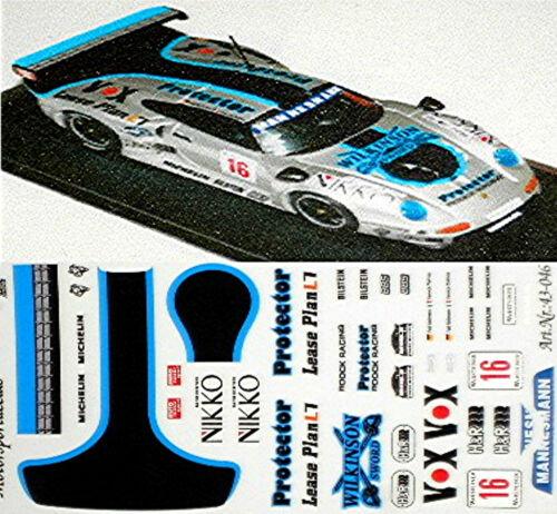 Porsche GT1 Wilkinson #16 Kelleners Dalmas GT-Cup 1997 1:43 Decal Abziehbild