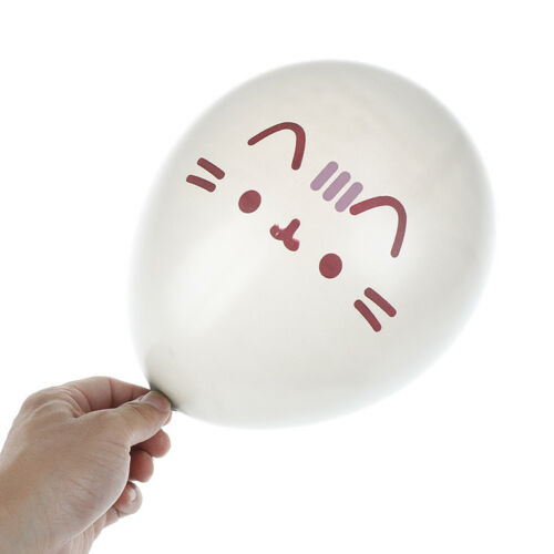 silver cat latex balloons kids birthday party wedding decorations balls toys ~!