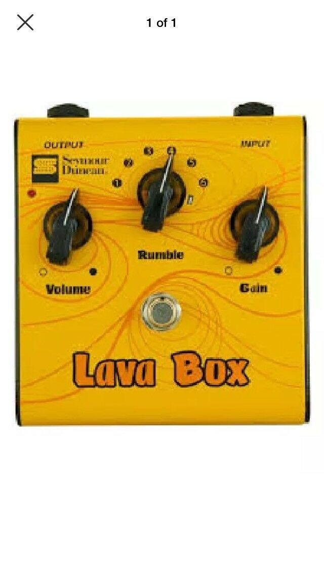 SEYMOUR DUNCAN SFX-05 LAVA BOX DISTORTION GUITAR PEDAL WITH RUMBLE CONTROL.
