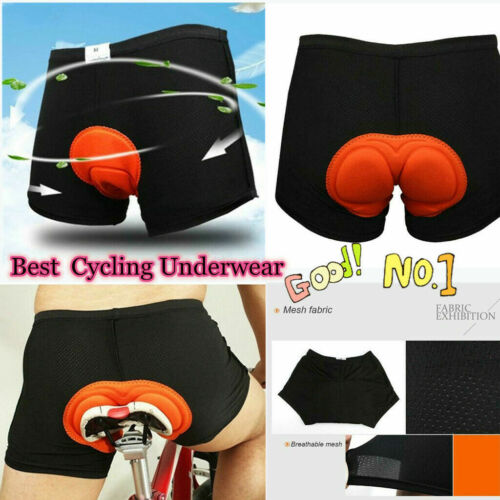 Men 3D Gel Padded Bicycle Cycling Bike Underwear Short Pants Riding Shorts Soft