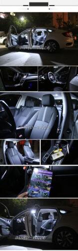 8x White LED Interior Lights Package Kit For Honda Civic 2006-2012 Sedan Coupe