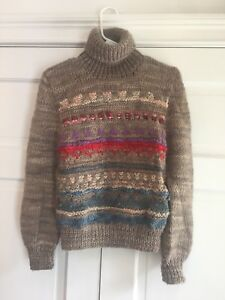 d9fbaa8253688c Vintage 70's Paul Stuart Chunky Knit Wool Sweater Made In Uraguay ...