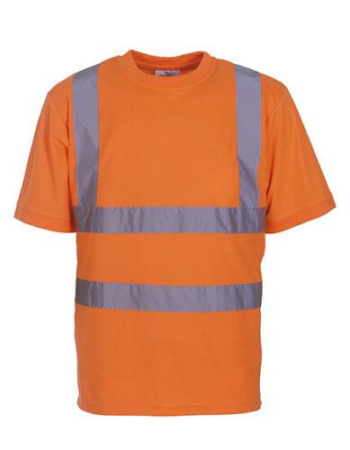 YOKO YK410 Hochsichtbares Warnschutz T-Shirt Arbeitsshirt Freizeitshirt 5XL 6XL