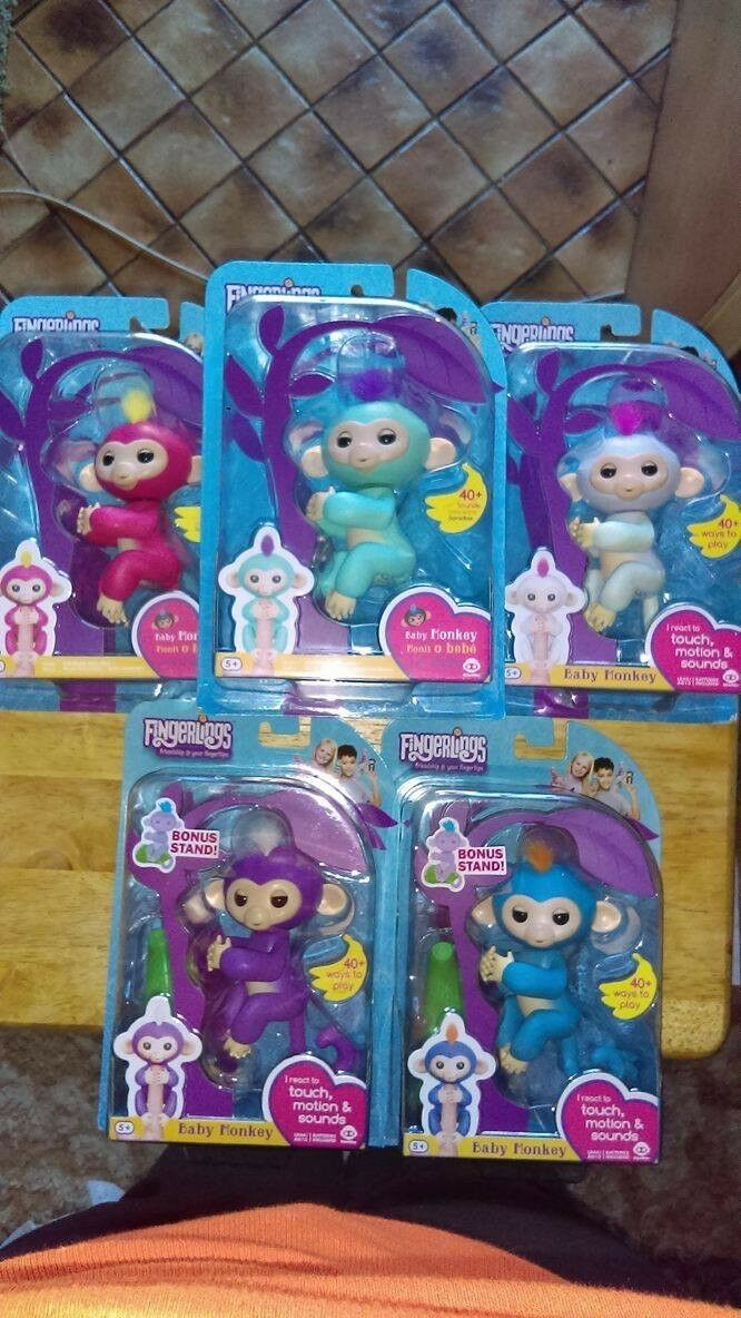 Fingrar bebis Monkey Autentic Wowwee 15 Interactive Monkey Lot  Bundle