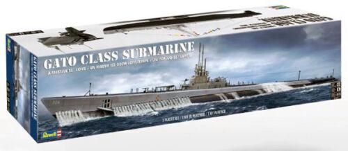Revell Monogram 396 WWII USS Gato Class Submarine plastic model kit 1//72