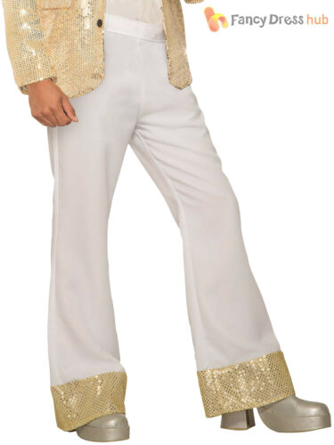 Homme Disco évasée Pantalon Adultes 60 s 70 s hippy hippie accessoire robe fantaisie