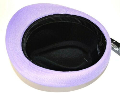 Men/'s Fedora Dress Hat Cuban Style Upturn Short Brim Casual Cap Lavender SD-138