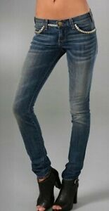 Jeans The Euc borchie Wash Current 27 Skinny Taglia Brass con Stud elliott RERBw0xq1