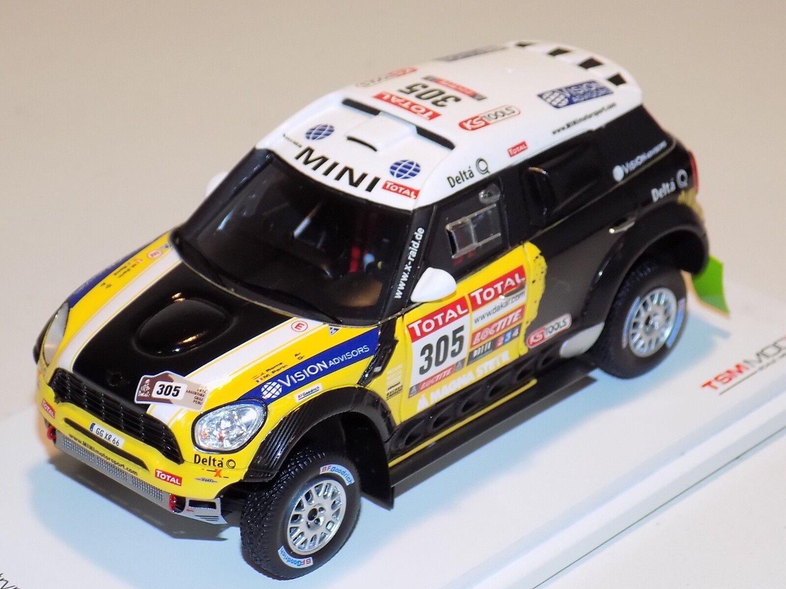 1/43 True Scale Models TSM Mini Countryman  305 Dakar Rally 2nd Place TSM144343