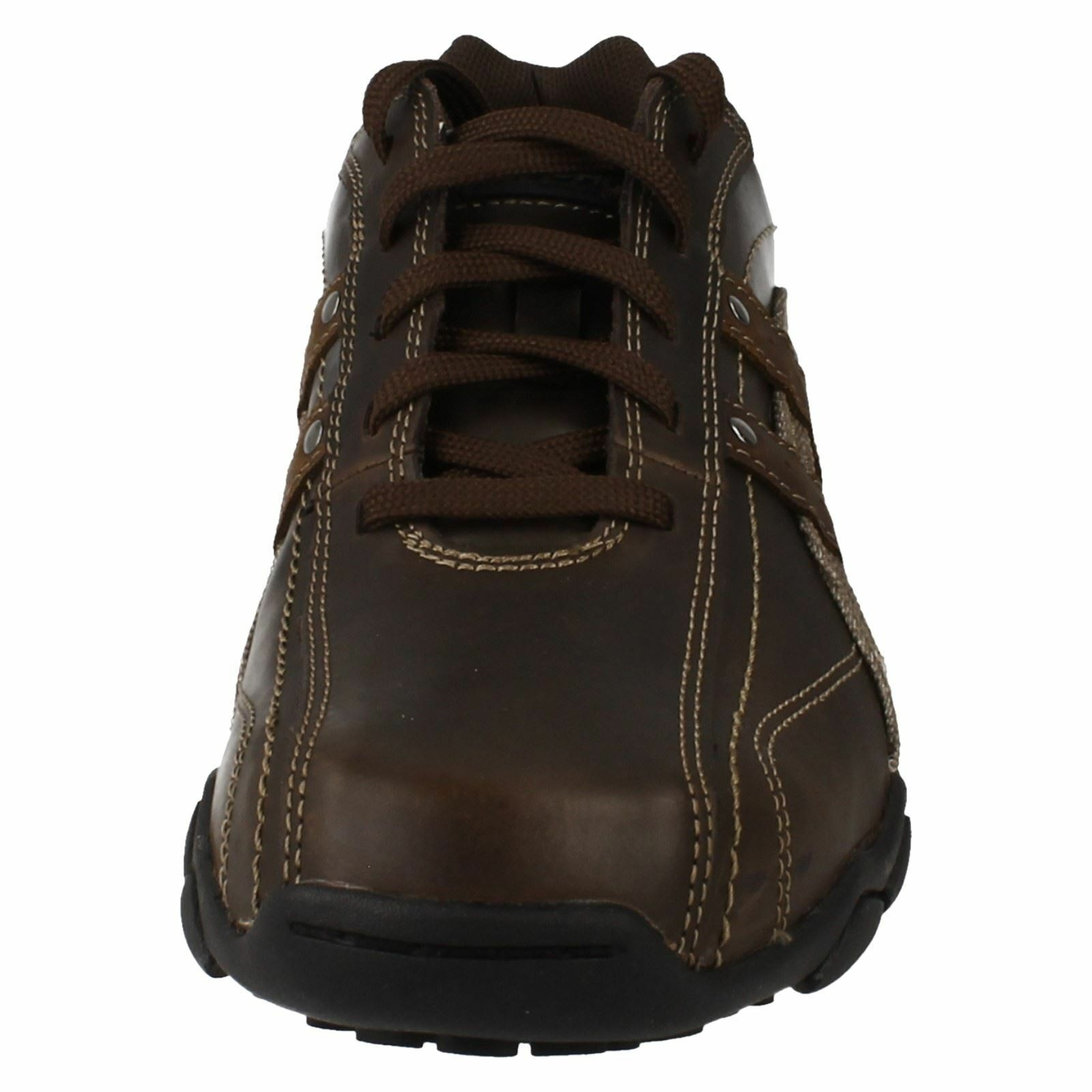 Men's Skechers Fusions Diameter Blake Lace Up Trainers Brown The most popular shoes for men and women
