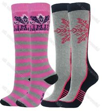 d88ccaac2 2 Pairs Boys Girls Thermal Welly Socks Boot Ski Walking Cycling Childrens  Ladies
