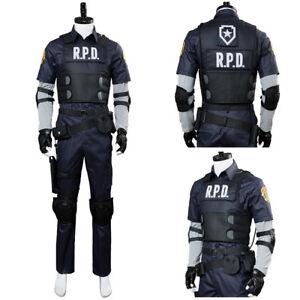 Details about  Resident Evil 2 Remake Biohazard Re:2 Leon Scott Kennedy Cosplay
