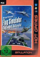 Pc Computer Spiel Flug Simulator 60 Flugzeuge & Helicopter Und And Neunew