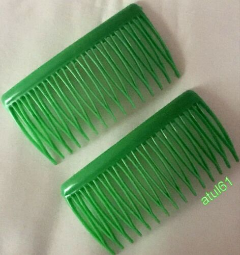 LARGE BLACK COLOURS PLASTIC SLIDE HAIR COMBS FRENCH TWIST SIDE GRIP 8.0 CM  NEW