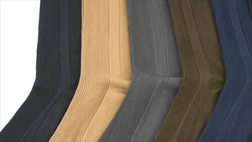 12 pairs lot mens ribbed dress socks assorted casual fashion size 9-11 10-13