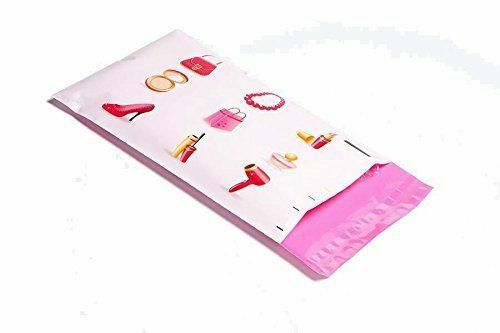 poly pak 6 x 9 pink make up designer poly mailers boutique bags