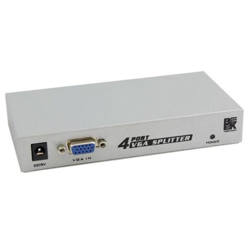 76BVGA4 SVGA Video Splitter Extender Box Adaptor BK 4-Port VGA