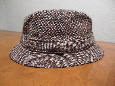 price reduced entire collection exclusive deals Vintage LL Bean Hanna Hats Donegal Ireland Brown Tweed Wool Bucket Hat S/M  | eBay
