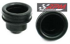"SET OF 2 Chrome steel valve cover rubber grommet PLUG 1"" ID 1.25 OD A95"