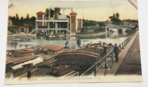 607-Antica-Cartolina-Colore-il-Canal-di-Arques-Ascensore-da-Fontinettes
