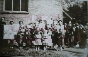 PRINT-10-034-X-7-034-BAUGHURST-SUNDAY-SCHOOL-GROUP-c1950-HAMPSHIRE