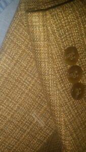 50R-BIG-TALL-Petrocelli-Red-Fleck-Check-Tweed-SILK-WOOL-Jacket-Sport-Coat-Blazer