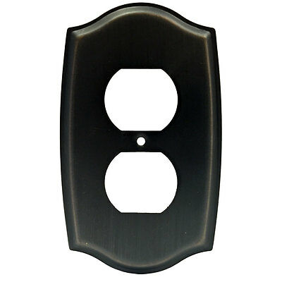 Lot of 10 Oil Rubbed Bronze Receptacle Outlet Wall Plates