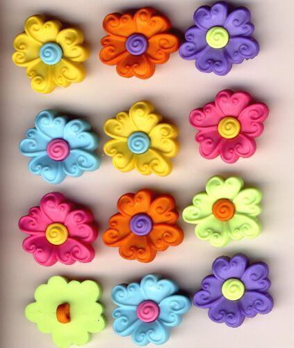 Vestido De Verano Remolino de Flores-Brillante Primavera Jardín novedad para arriba Craft Botones