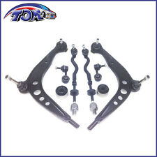 NEW FRONT LOWER CONTROL ARM KIT TIE RODS BUSHINGS & SWAY BAR LINKS FOR BMW E36