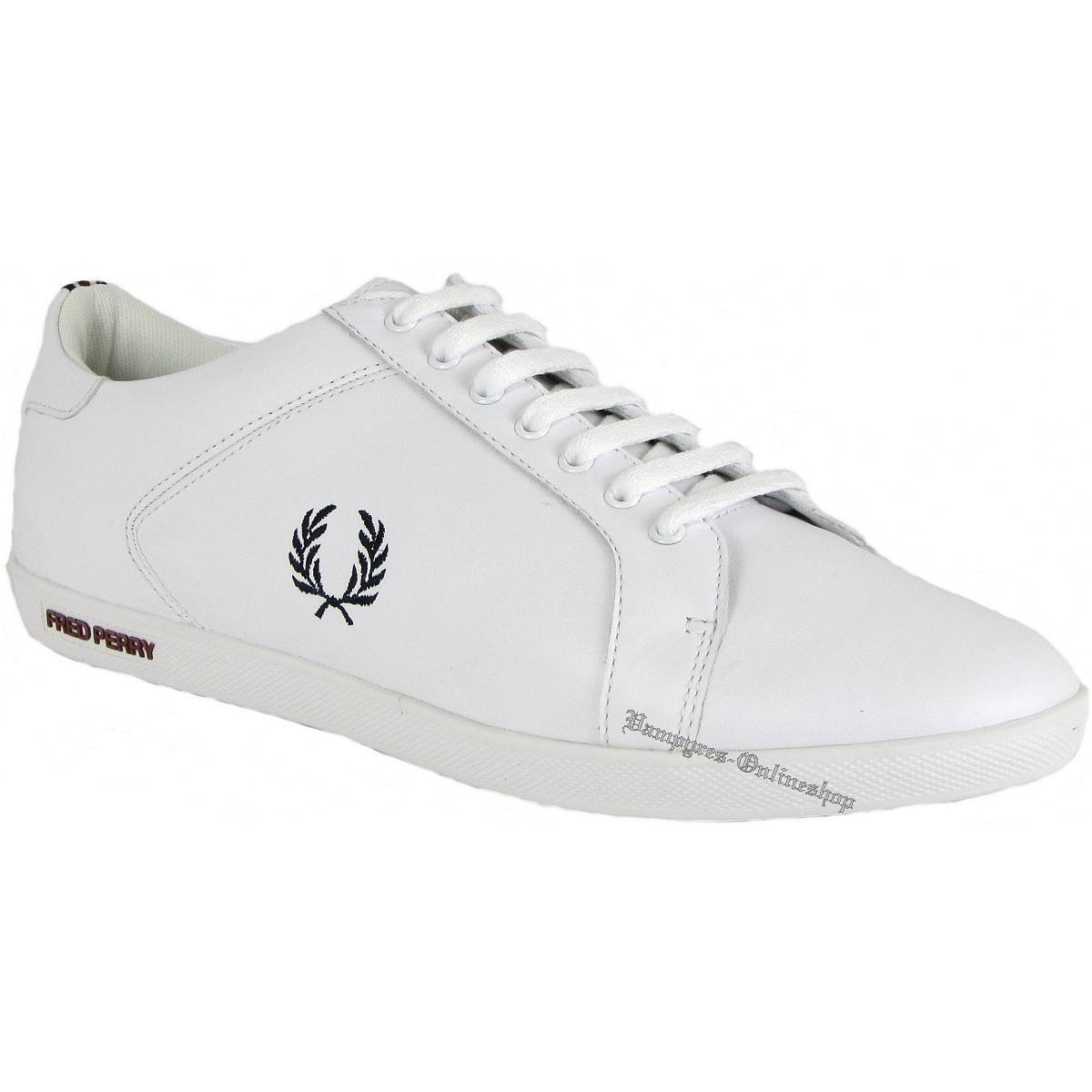 Fred Blanco Perry Earl Leather Weiß B9059 Sneaker Blanco Fred Leder TurnZapatos Zapatos Neu 649859