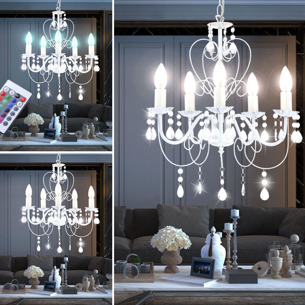Lampadario LED RGB TELECOMANDO cristallo lampadario lampadario cambio colore bianco