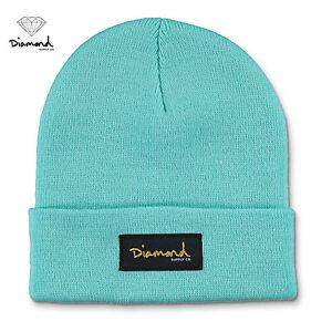 f939924569c Diamond Supply Co. Gold Foil Beanie Hat NWT Blue OS Skate Surf Snow ...