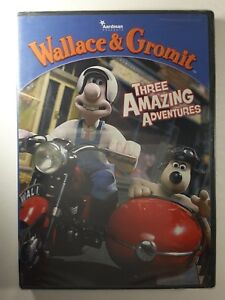 WALLACE-AND-amp-GROMIT-DVD-Three-Amazing-Adventures-OVER-3-HOURS-Rare-OOP